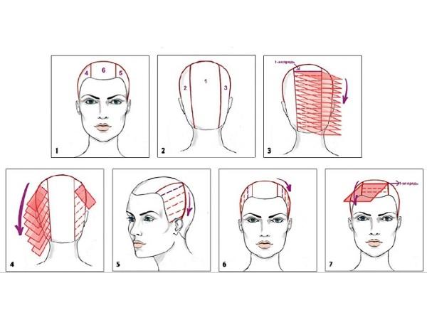 Схемы современного окрашивания волос 110
