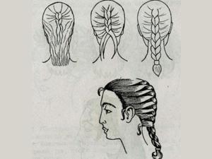 Коса из двух плетений
