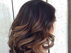 Балаяж на темные волосы короткие прямые