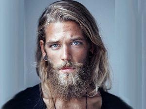 Длинные волосы с бородой