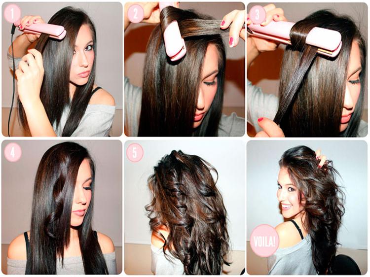 Как закрутить волосы утюжком пошаговое фото