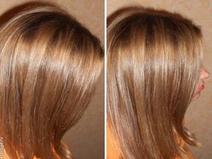 Калифорнийское мелирование на прямых волосах