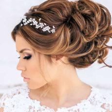 Красивая укладка к свадебному платью