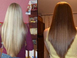 Лисий хвост для прямых волос
