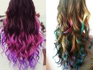 Покраска волос мелками