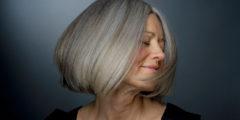 Правильный уход за седыми волосами