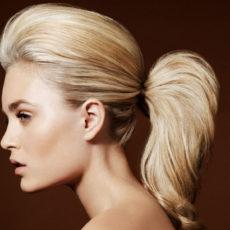 Прическа с начесом на средние волосы