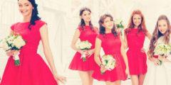 Прически для подружек невесты