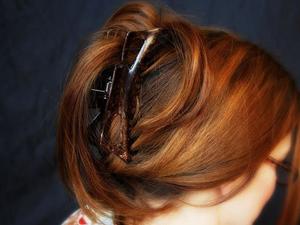 Прически с крабом для волос