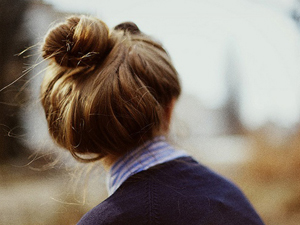 Пучок из длинных волос