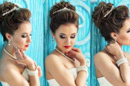 Свадебная причёска с диадемой