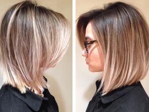 Фото окрашивание на средние волосы