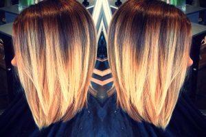 Как покрасить волосы тёмные корни светлые концы