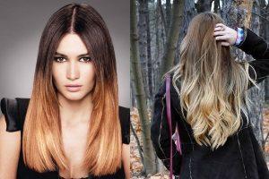 Как красить волосы темные корни светлые концы