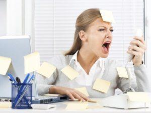 Стресс - причина редких волос