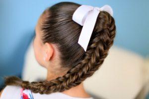 Прическа коса в косе