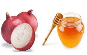 Маска лук с медом