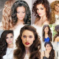 прически на длинные распущенные волосы