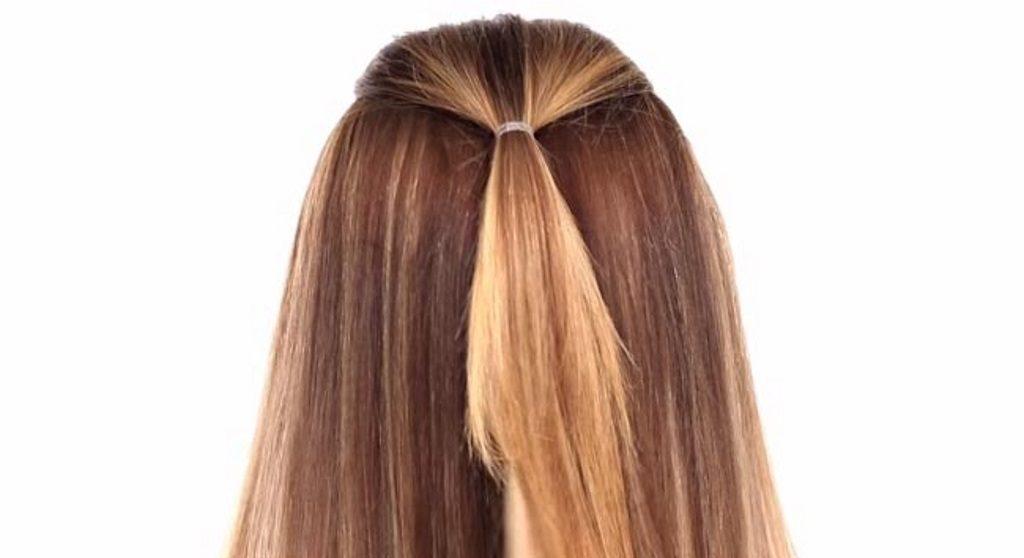 Сбор волос на затылке