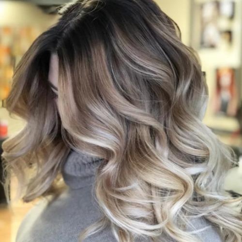 Стильная окраска волос