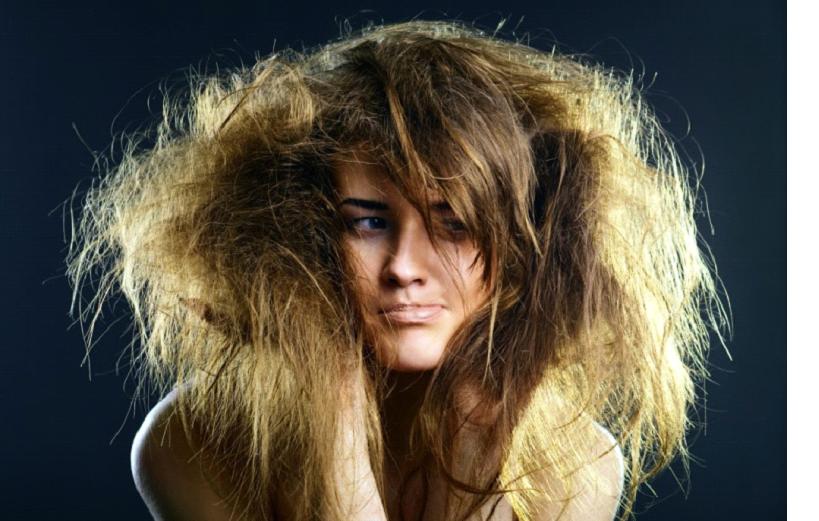Измененная структура волос