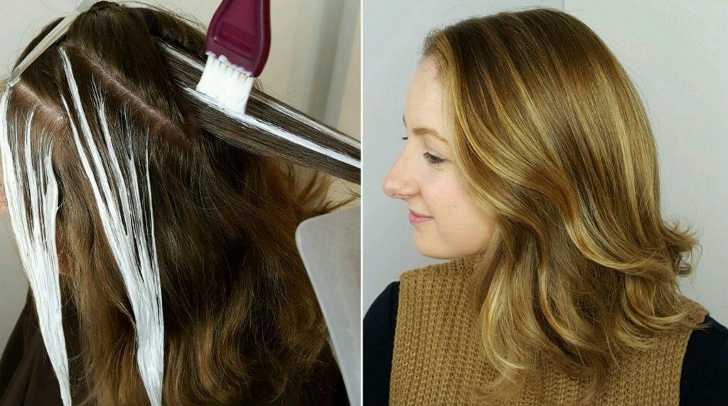 Распределение красителя на волосах