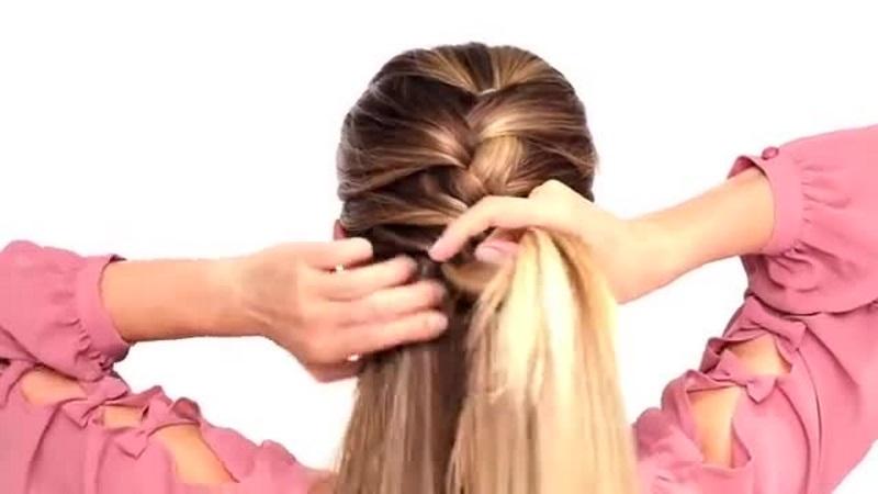 Сбор волос с боков