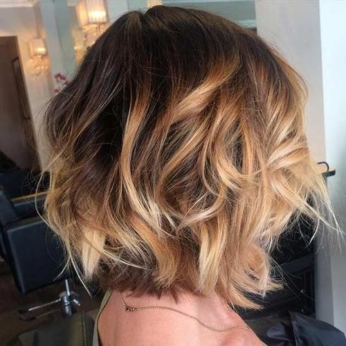 Окрашивание балаяж коротких волос