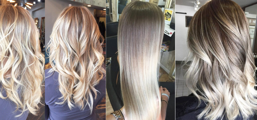 Балаяж окрашивание блондинки