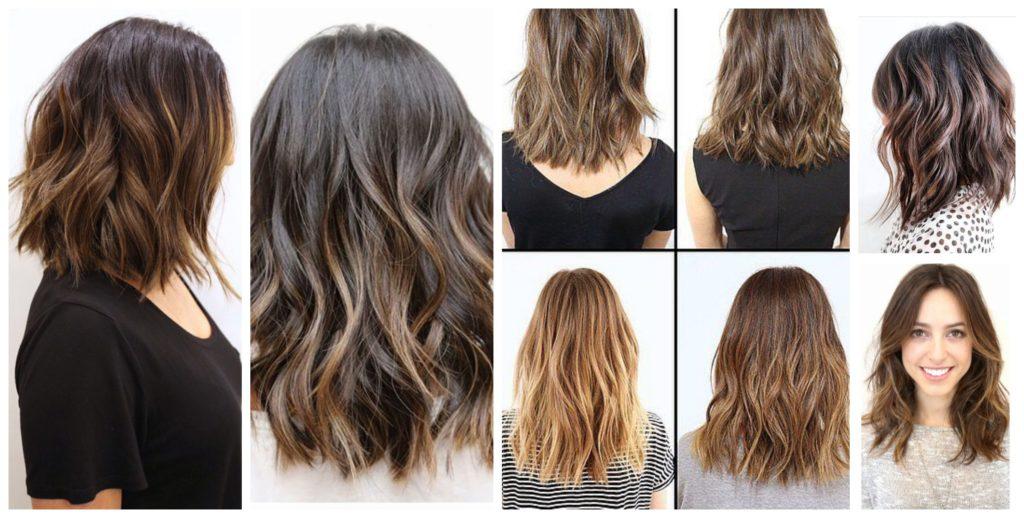 Варианты окрашивания средних волос