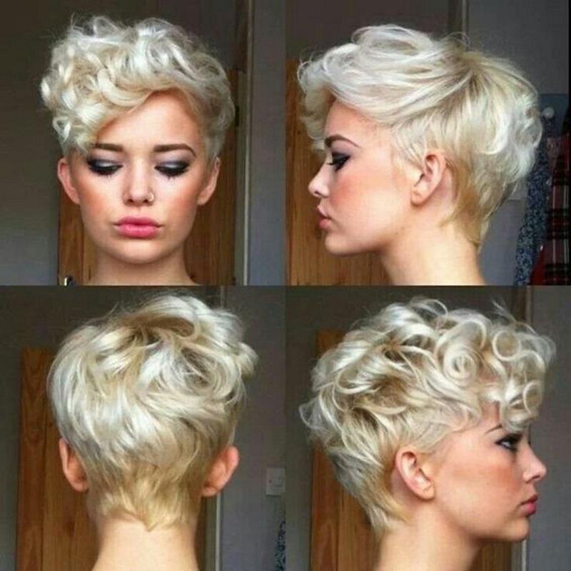 Пикси для кудрявых волос