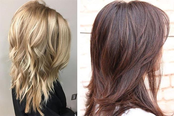 Каскад средних волос