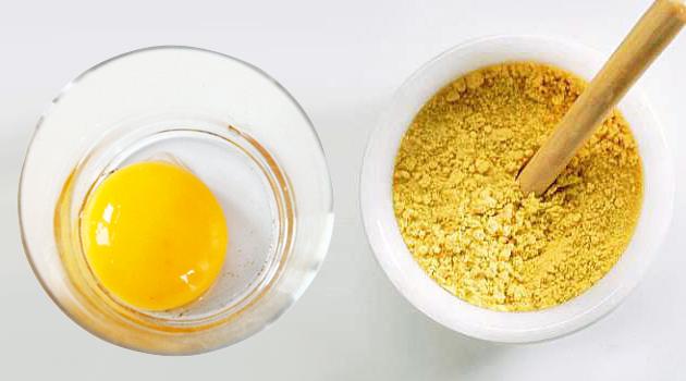 Использование яйца и горчицы