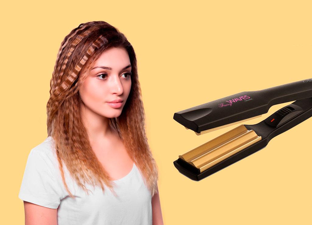 Завивка гофре на разную длину волос