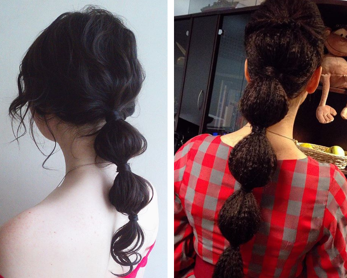 Фонарики на волосах