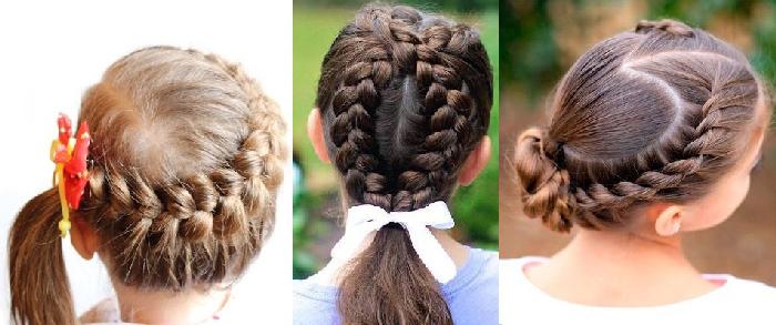 Французская коса у девочек